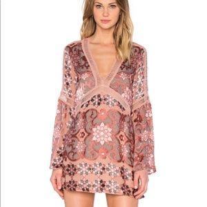 For Love and Lemons Pink Juliette Dress